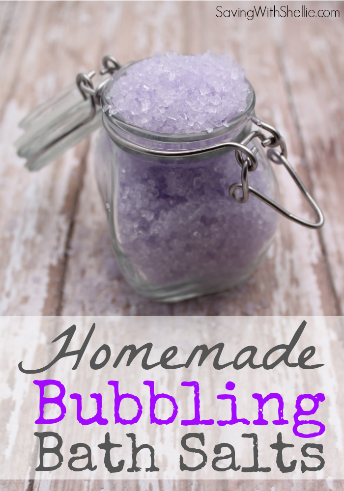 Lavender Bubbling Bath Salts | Gifts In A Jar That Are Oh So Cute And Easy To DIY | gifts in a jar soup recipes