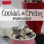 Oh My! Cookies and Cream Popcorn. Ooey, Gooey, Yum! Next time I make this, I'm using the Mint Oreos.