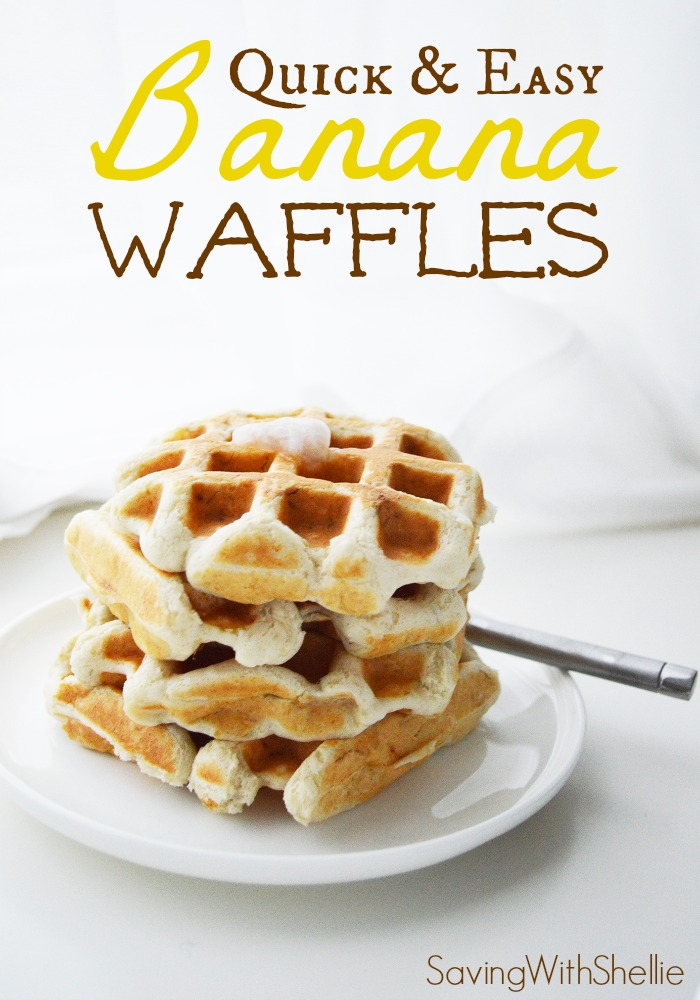 Oh-So-Easy Banana Waffles. Options to make them #Vegan and #GlutenFree ...
