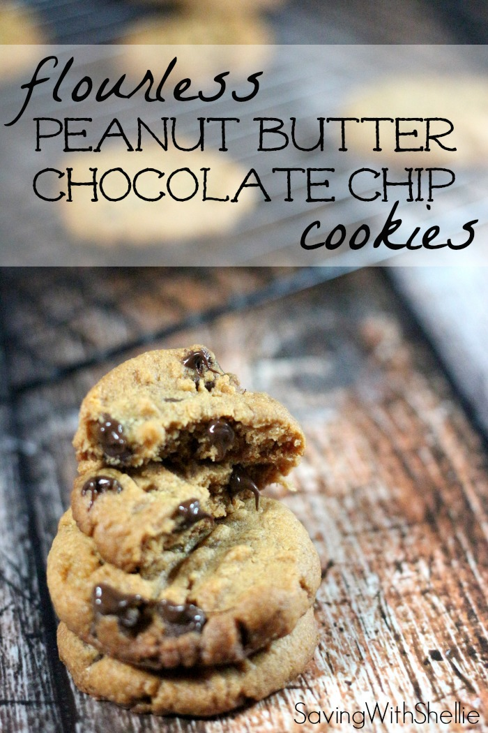 Flourless Peanut Butter Chocolate Chip Cookies | Simply Shellie