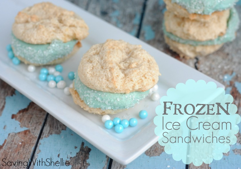 FROZEN Inspired Ice Cream Sandwiches are perfect for a Frozen Birthday ...
