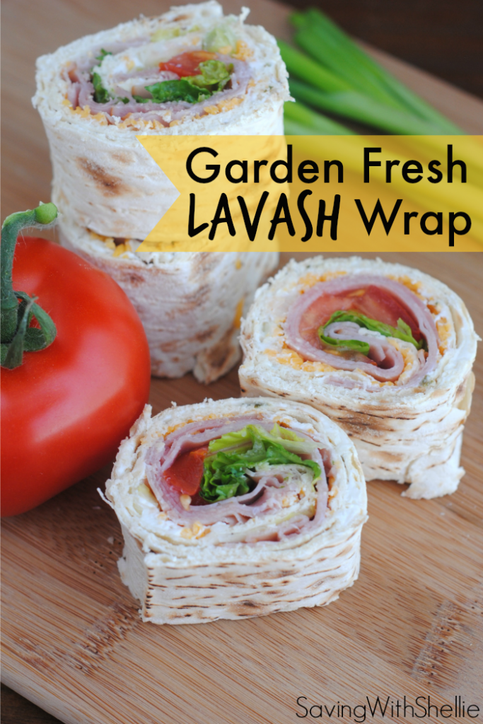 Is your garden ripe for the pickin'. Use the tomatoes, onions and lettuce or other yummy homegrown goodies to make this delicious Lavash Wrap.