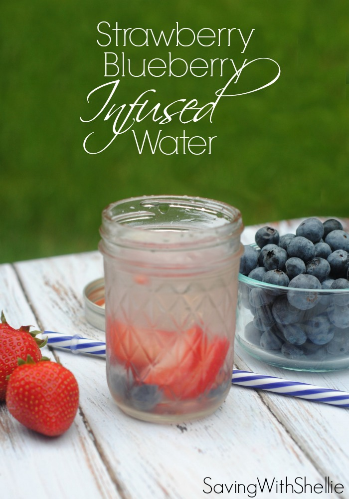 This Blueberry Strawberry Infused Water is the prefect crisp, refreshing drink for summertime. It's also a festive July 4th or Memorial Day treat without all the calories.