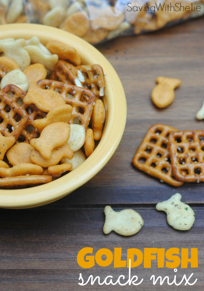 Stuck in a snack rut? Whip up a batch of this Zesty Ranch Goldfish Snack Mix and your kids will be begging for more. It's the perfect after school snack!