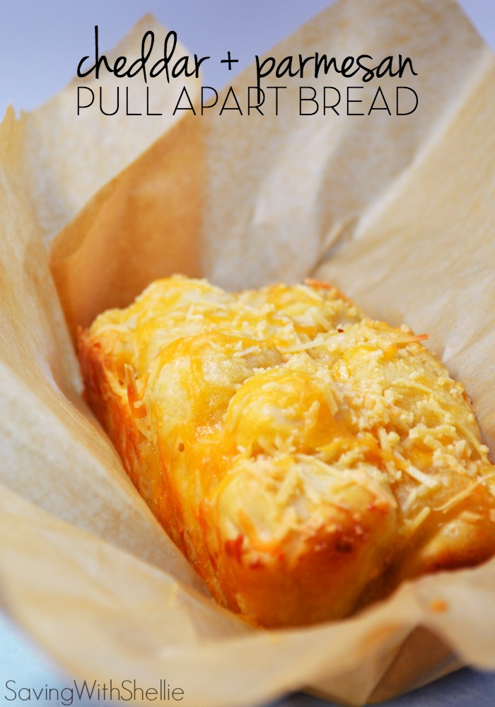 Cheddar and Parmesan Pull Apart Bread
