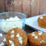 When I make these Pumpkin Chocolate Chip Muffins they are gone faster than they can cool. They're perfectly pumpkin-y with a nugget of creamy white chocolate here and there. Delicious!