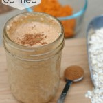 This Pumpkin Overnight Oatmeal recipe is a great breakfast on the go! The flavors of cinnamon, nutmeg and pumpkin in the morning are so comforting. Prep it the night before for a simple, delicious breakfast.