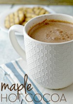 This maple hot cocoa recipe is perfect for those crisp mornings. I love this simple recipe and the lovely decadence the maple syrup gives the hot cocoa. Whip some up on Saturday morning for breakfast. You won't be sorry.