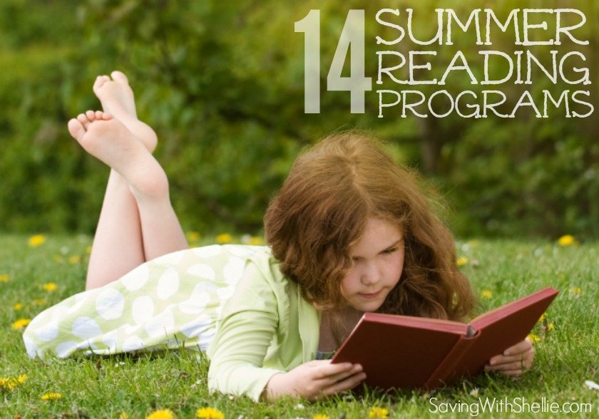 A big list of 14 FREE Summer Reading Programs to keep kids engaged and excited with free books, prizes and other incentives.