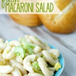 I'm taking this Fresh Macaroni Salad to all our summer picnics and BBQs this year. Definitely a crowd pleaser!