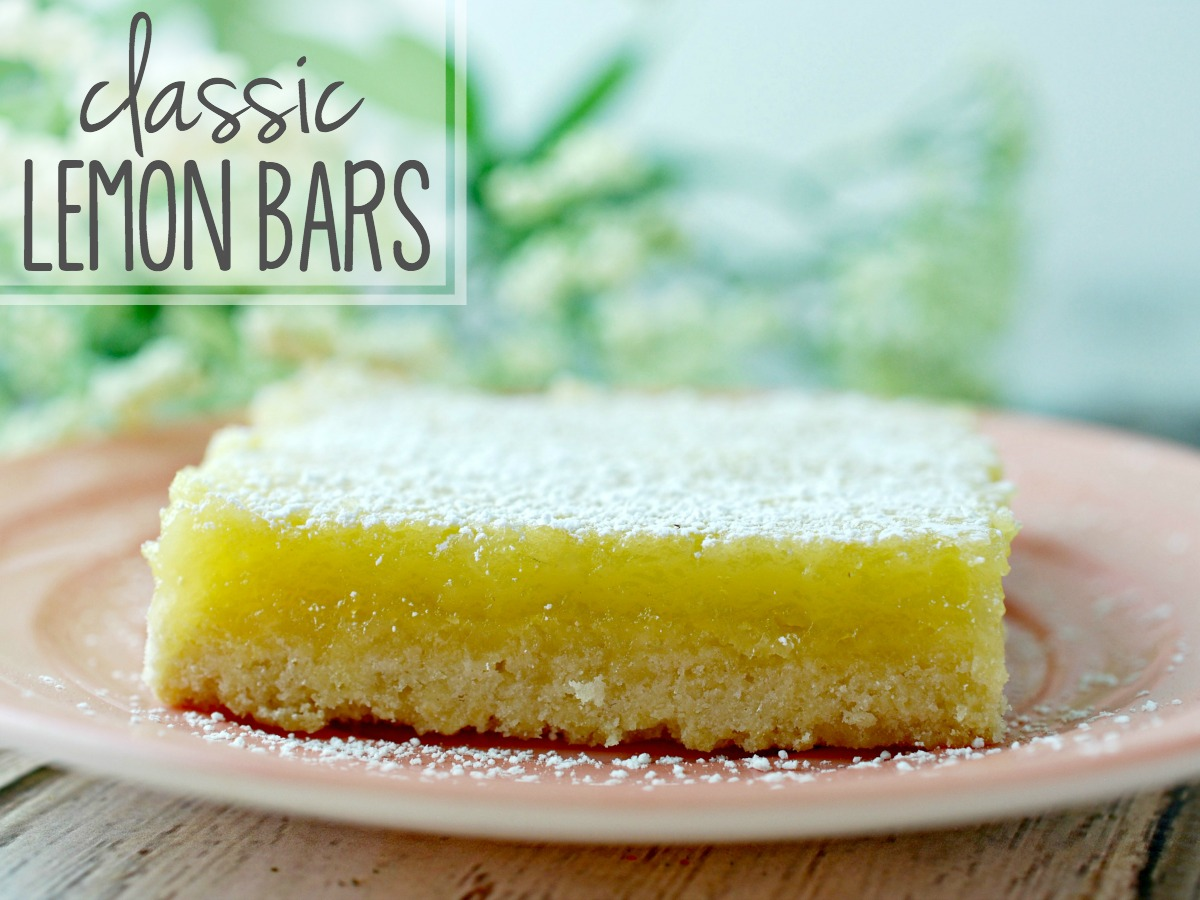 I LOVE Lemon bars. That lovely tanginess. The melt-in-your mouth buttery crust. The bright yellow color. You can't find a more perfect dessert for Spring. Here's a classic lemon bar recipe sure to please.