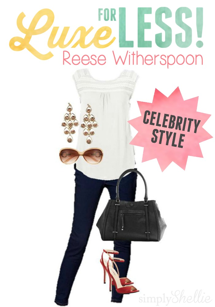 I just love Reese Witherspoon. She has such an easy, casual style.  This cute outfit is easy to piece together. I already have 3 of the items in my closet!