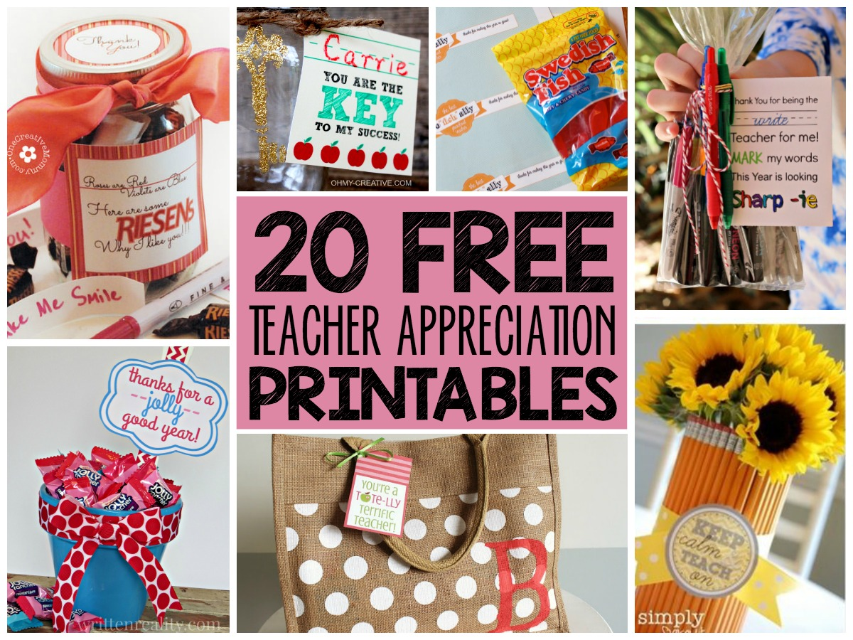 Classroom Ideas For Teacher Appreciation Week ~ Free teacher appreciation printables