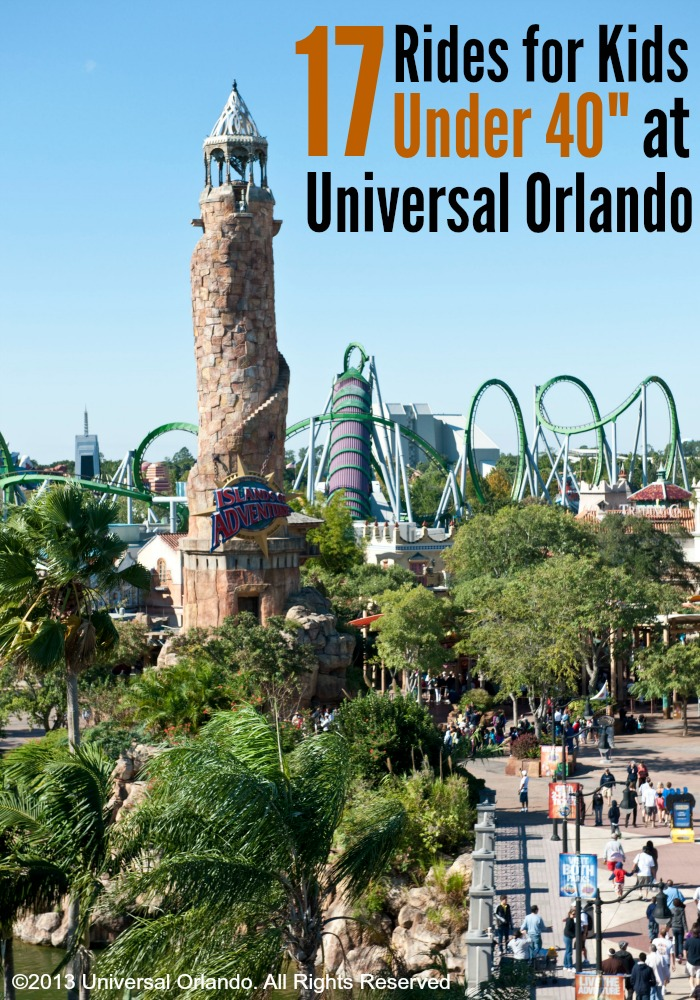 "Planning a trip to Universal Orlando with little ones. Here are 17 rides and play areas for kids under 40"" tall. We took our not quite three year old last summer and there was TONS for him to do!"