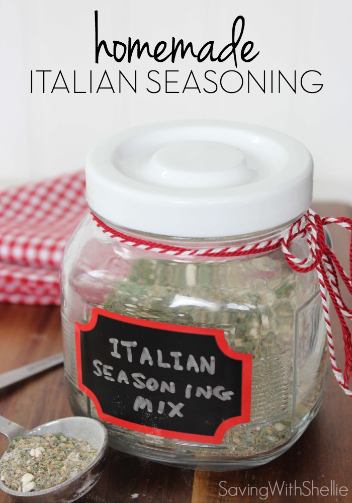 Making your own Homemade Seasoning is awesome since it is free of additives and is super simple to make.  This Homemade Italian Seasoning Mix is versatile since it can be made into Homemade Italian Dressing as well.