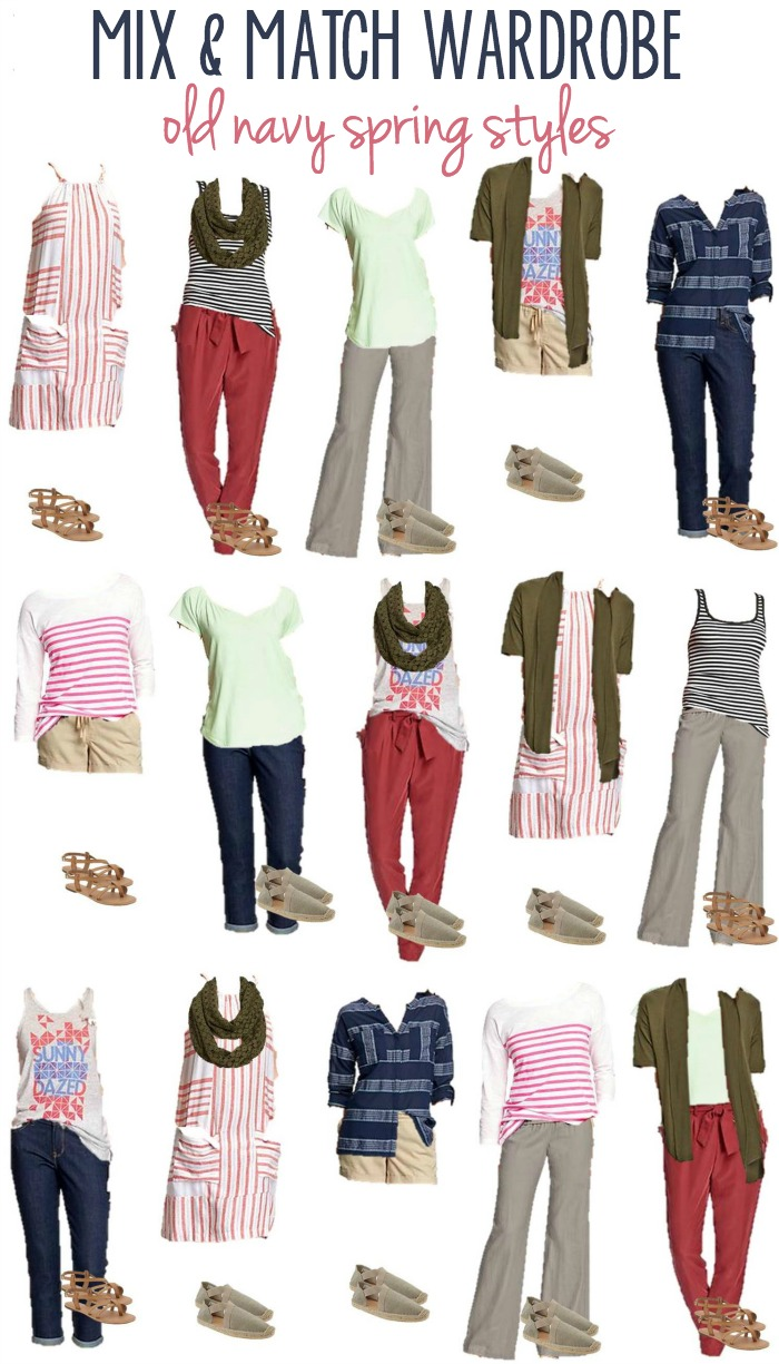 Old Navy Spring Styles | 16 Mix & Match Wardrobe Options