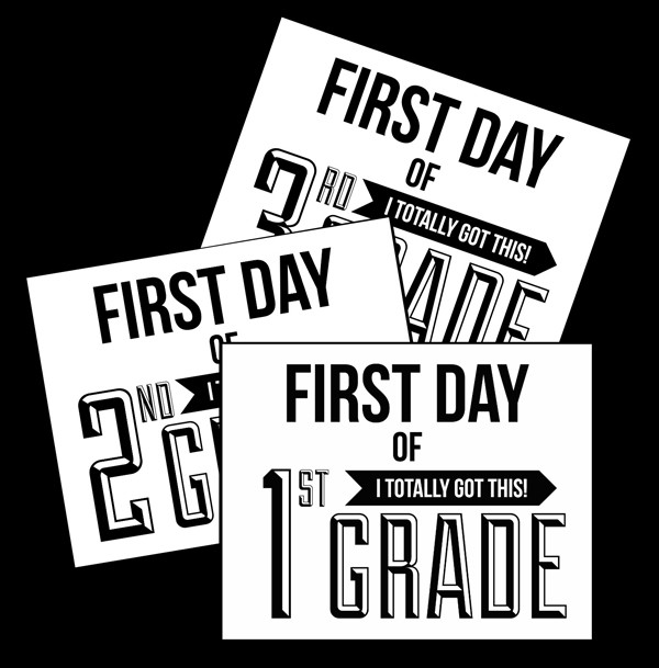 photo regarding First Day of School Sign Printable identified as Initial Working day of Higher education Signs or symptoms 10 Cost-free Back again-toward-University Symptoms