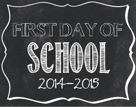 First Day Of School Signs FREE BacktoSchool Signs - Chalkboard sign template
