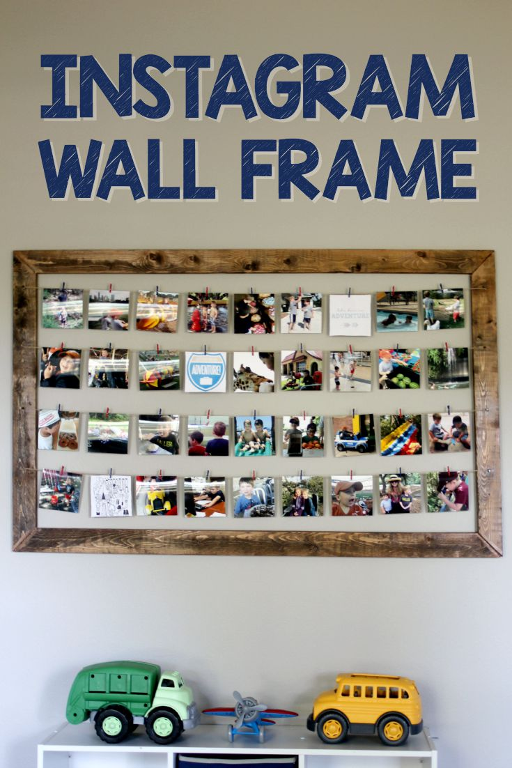 Easy Instagram Wall Frame Tutorial