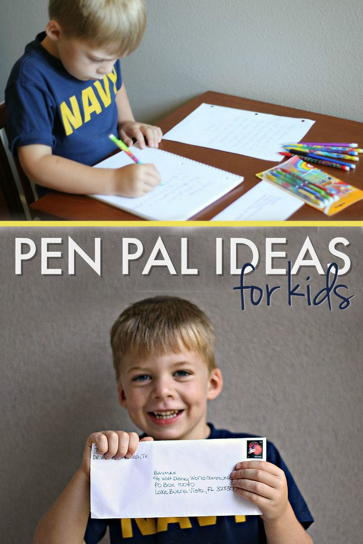 Pen Pal Ideas for Kids