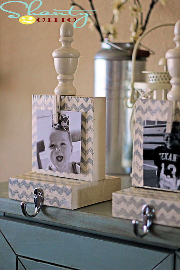 Chevron Stocking Holders with Photos tutorial via Shanty2Chic