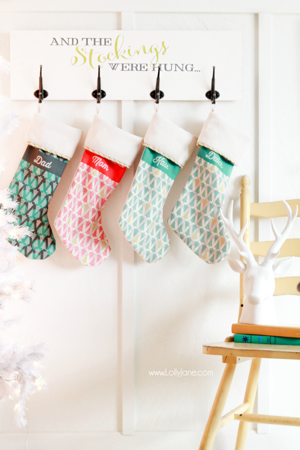 DIY-Christmas-Holiday-Stocking-Board Lolly Jane
