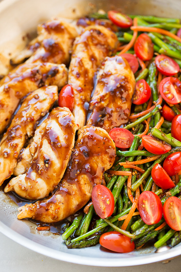 One Pan Balsamic Chicken and Veggies Cooking Classy