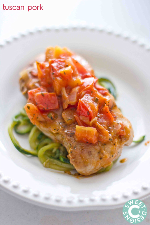 One Pan Tuscan Pork Chops Recipe sweet cs designs