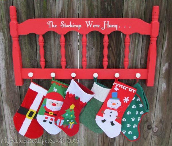 stockings-were-hung-headboard via my repurposed life