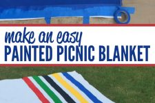 Easy DIY Painted Picnic Blanket