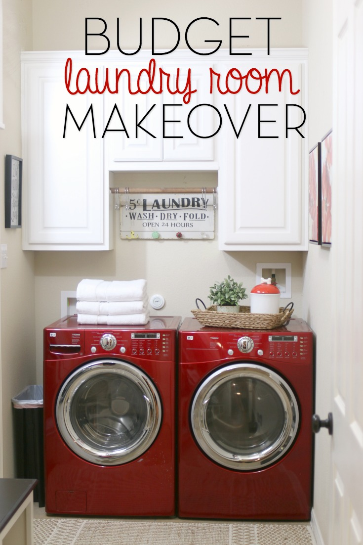 Budget laundry room makeover for Laundry room ideas small budget
