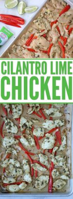 Sheet Pan Cilantro Lime Chicken