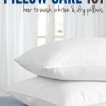 Pillow Care 101: How to Wash, Whiten & Dry Pillows